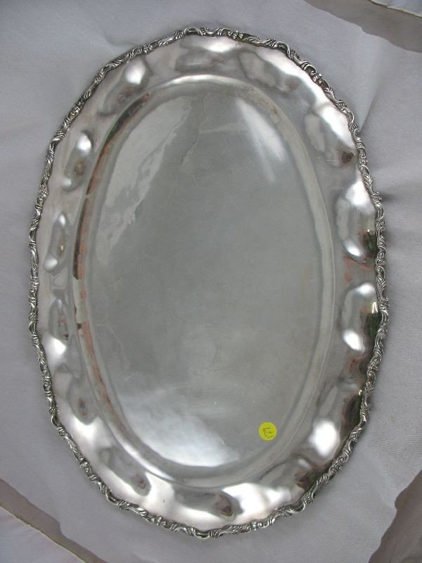 3260179: LARGE MEXICAN STERLING SILVER SERVING TRAY 4LB