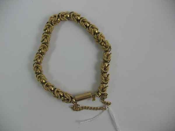 7270001D: 18K GOLD HAND-FABRICATED ROPE BRACELET / 53.7