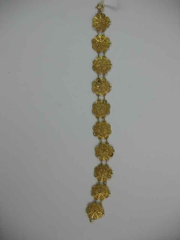7270001M: 14K GOLD VICTORIAN OPEN-WORK BRACELET / 9 GRA