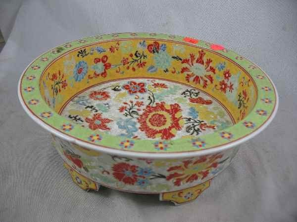 """7270030C: CHINESE PORCELAIN CONSOLE BOWL / 11"""" D, SMALL"""