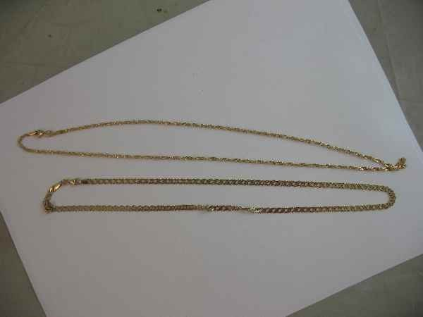 10190017: 2 14 K NECKLACES (12.2 G)