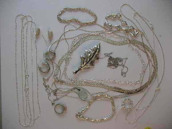 10190020: LARGE LOT OF STERLING SILVER JEWELRY (APPX. 5