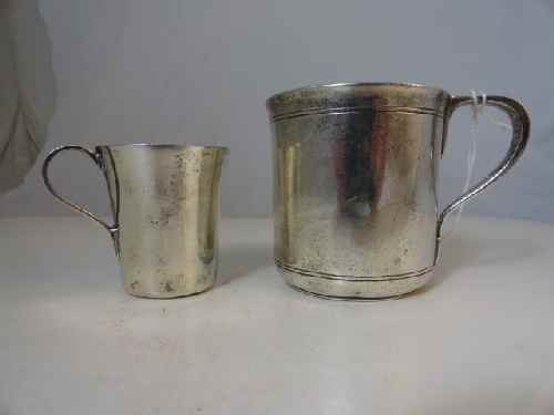 12210007: 2 TIFFANY STERLING SILVER CHILDS CUPS (7.2 OZ