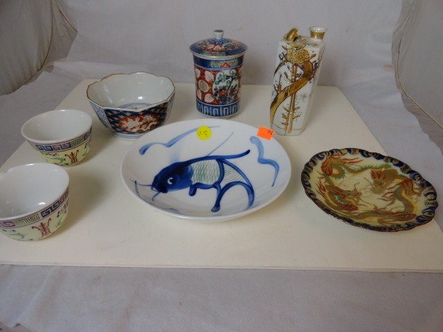 12210011: 7 PC. CHINESE PORCELAIN (SOME SIGNED)