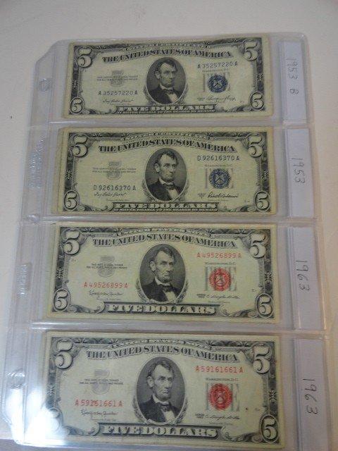12210057: 10 $5 BILLS: 1953~63