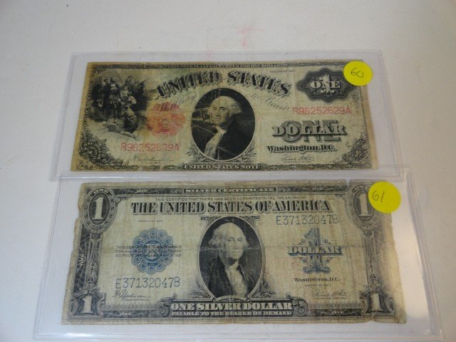 12210058: 2 LARGE $1 BILLS: 1917 & 1923