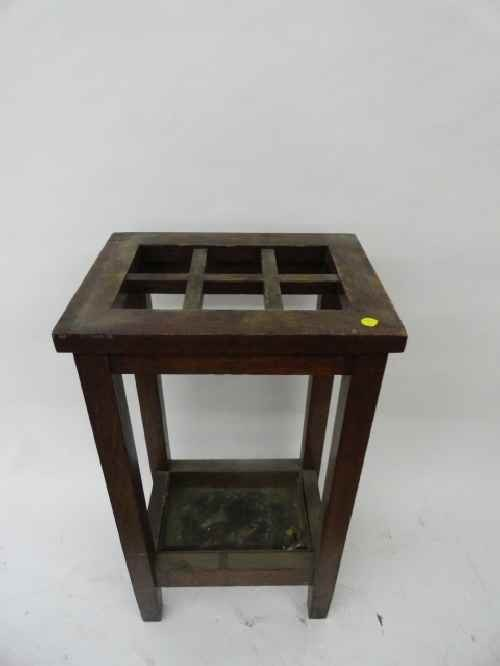 12210155G: ARTS & CRAFTS UMBRELLA STAND - 2