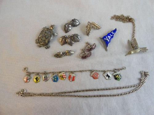 2290018: VINTAGE STERING SILVER JEWELRY GROUPING