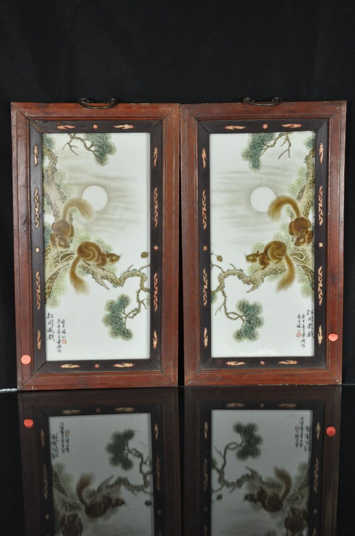 6290021: A PAIR OF CHINESE 20TH C. FAMILLE ROSE PORCELA