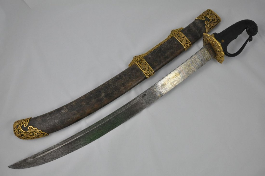 6290081: CHINESE SWORD AND SCABBARD