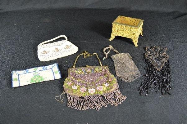 8290001: Beaded purses and jewelry box