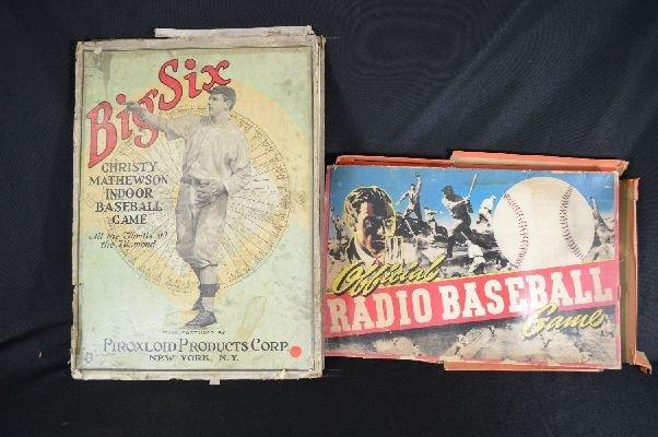"""8290024: """"Big Six"""" baseball game together with radio ga"""