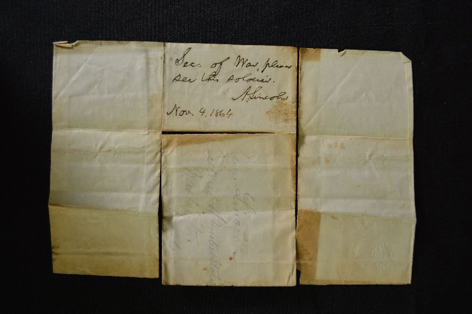 8290181: Nov 4 1864 note from Abe Lincoln to the Secret