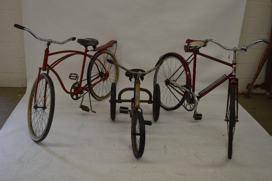 80009: 3 VINTAGE BICYCLES