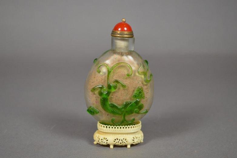 110006: Chinese Peking glass snuff bottle