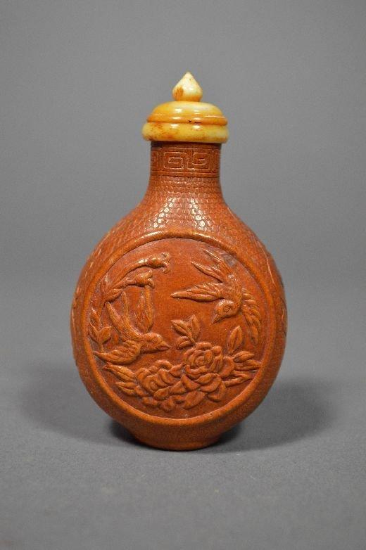 110017: Carved gourd snuff bottle