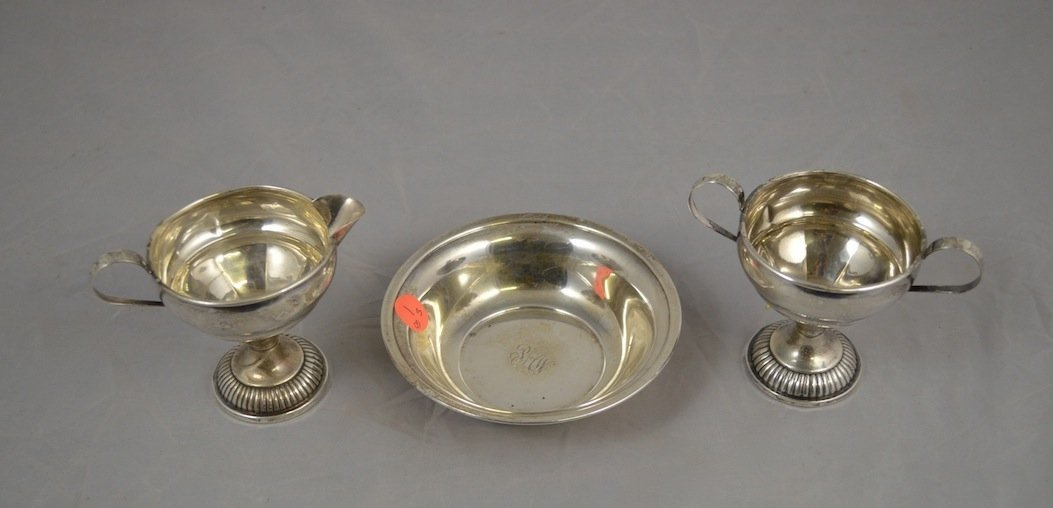 2 WEIGHTED STERLING SILVER ITEMS