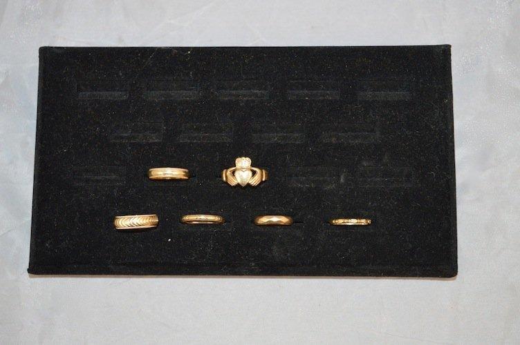 6 14K GOLD RINGS