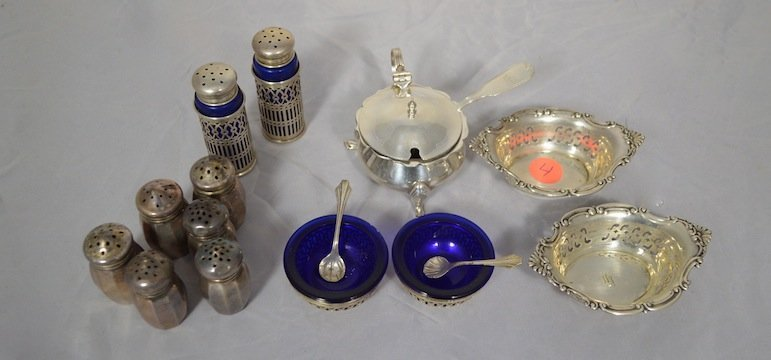 16 PCS. STERLING SILVER DINING ITEMS