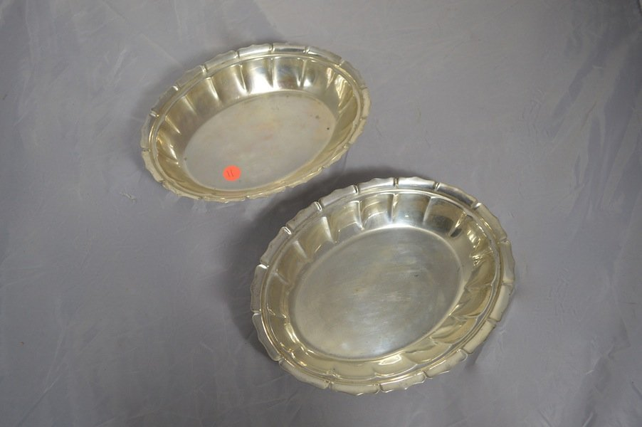 PAIR OF STERLING SILVER BOWLS