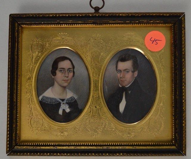 HUSBAND & WIFE PORTRAIT MINIATURE