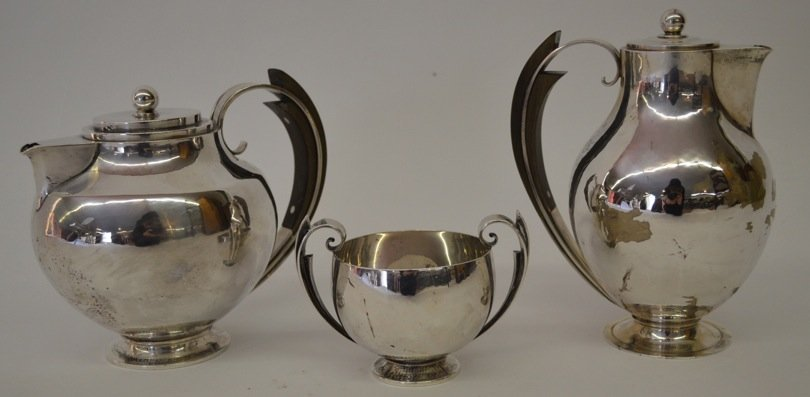 Early High Design George Jensen Sterling Coffee Service