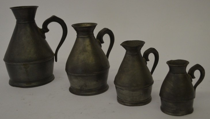 GROUPING OF PEWTER MEASURES