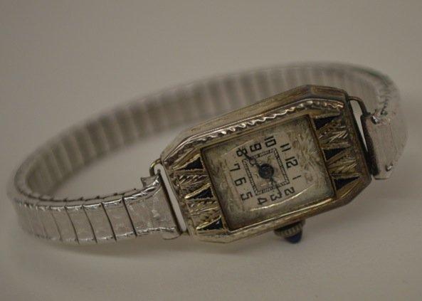 14K White Gold Watch