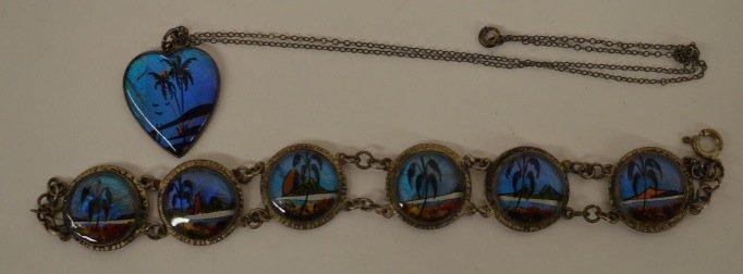 1920s Sterling Silver Butterfly Wing Jewelry