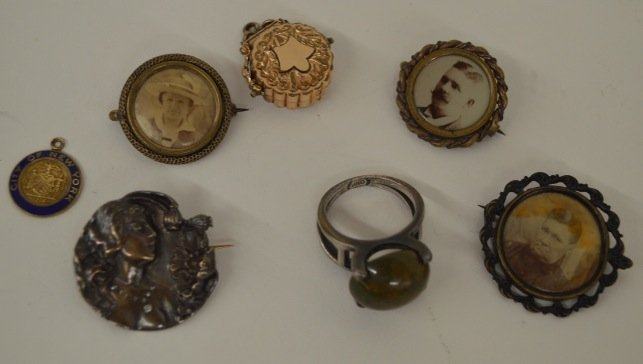 Lot of Pins, Ring, NYC Pendant