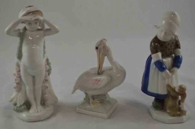 3 Rosenthal Porcelain Figurines, artist signed