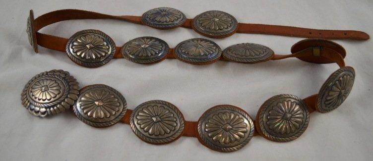 Native American Sterling Silver Belt