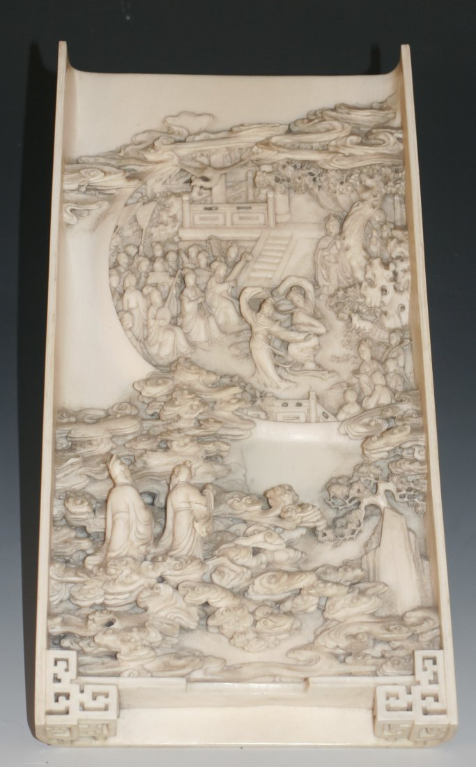Carved Ivory Plaque