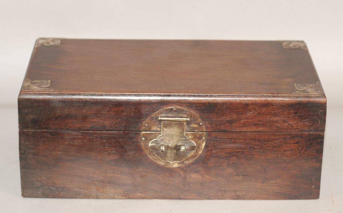 Rectangle Shaped Huanghuali Wood Jewelry Box