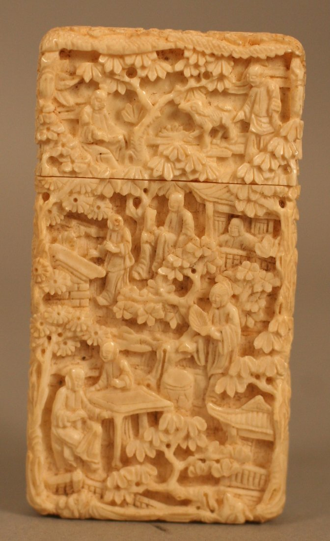 Qing Carved Ivory Card Case
