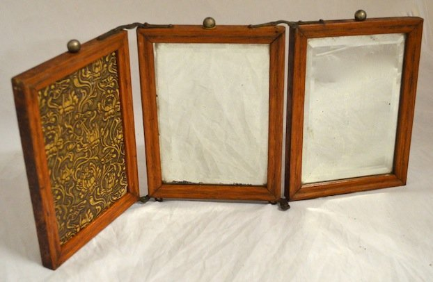 2 Victorian  3 Part Shaving Mirrors