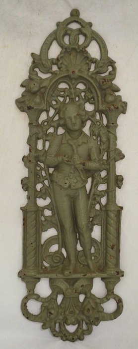19th Century Cast Iron Figural Wall Plaque