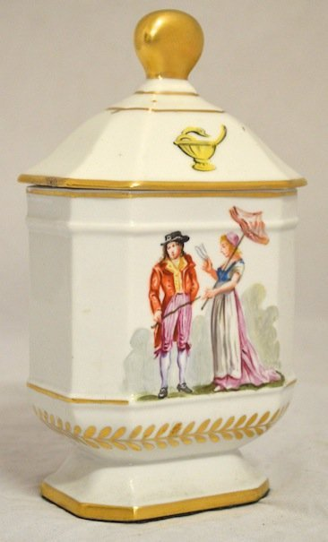 Early 19th Century Hand-Painted  Limoge Apothecary