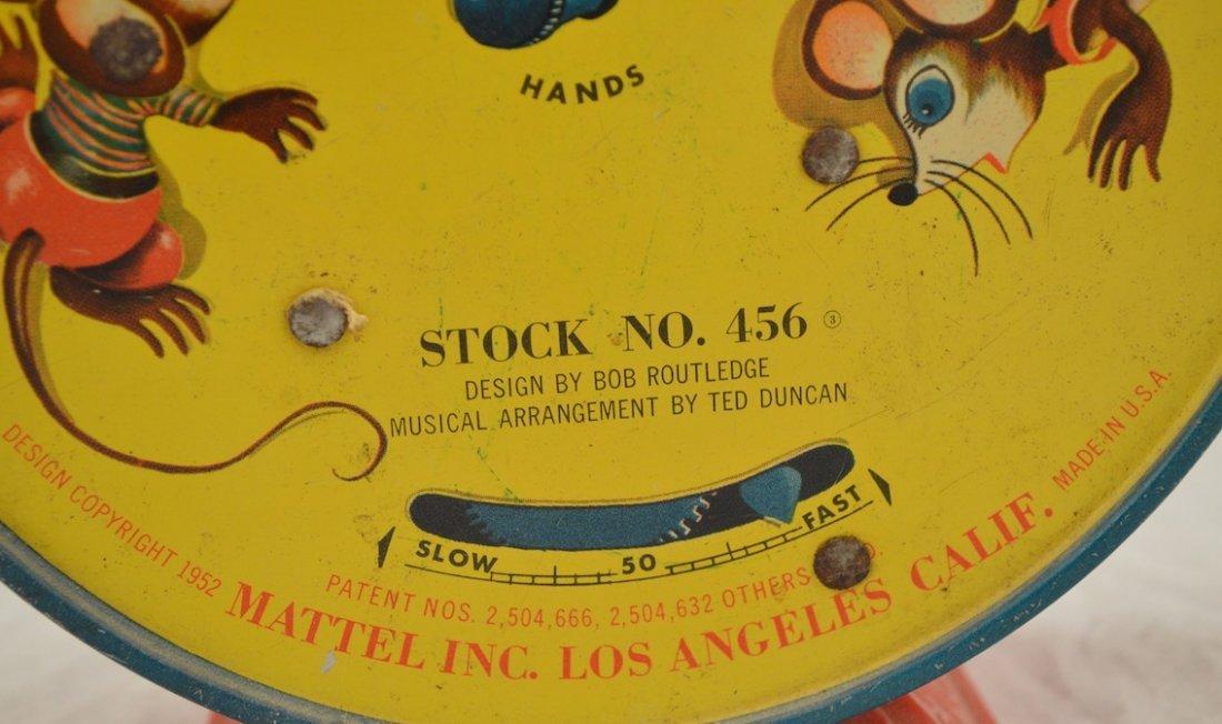 Vintage Toys- Cat Clock, Mattel 1952 Alarm Clock, Pail - 6