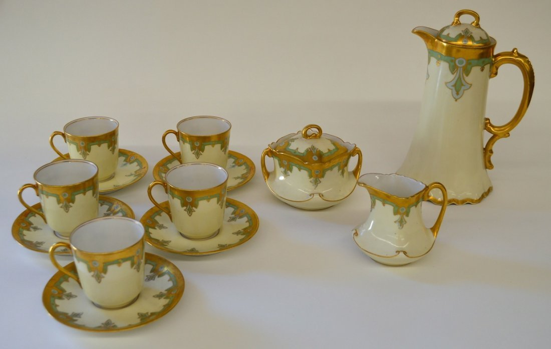 Elite Limoge Art Nouveau Coffee Service for 5