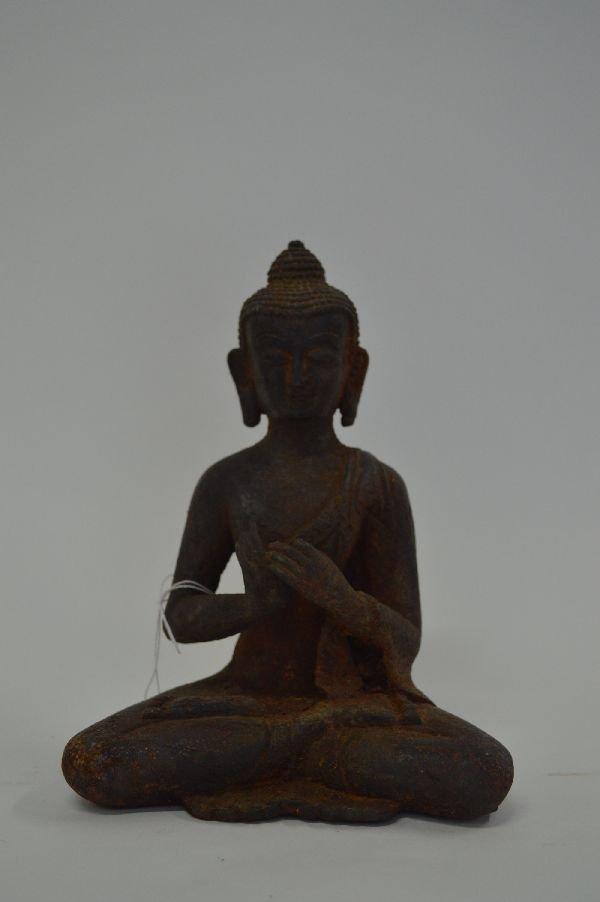 Thai Iron Buddha 8''