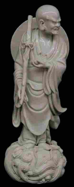 Chinese blace-de porcelain figure