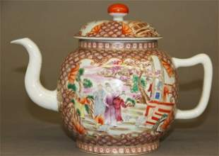 Chinese Exported Porcelain Tea Pot