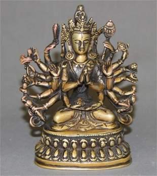 Carved Bronze Buddha Figure