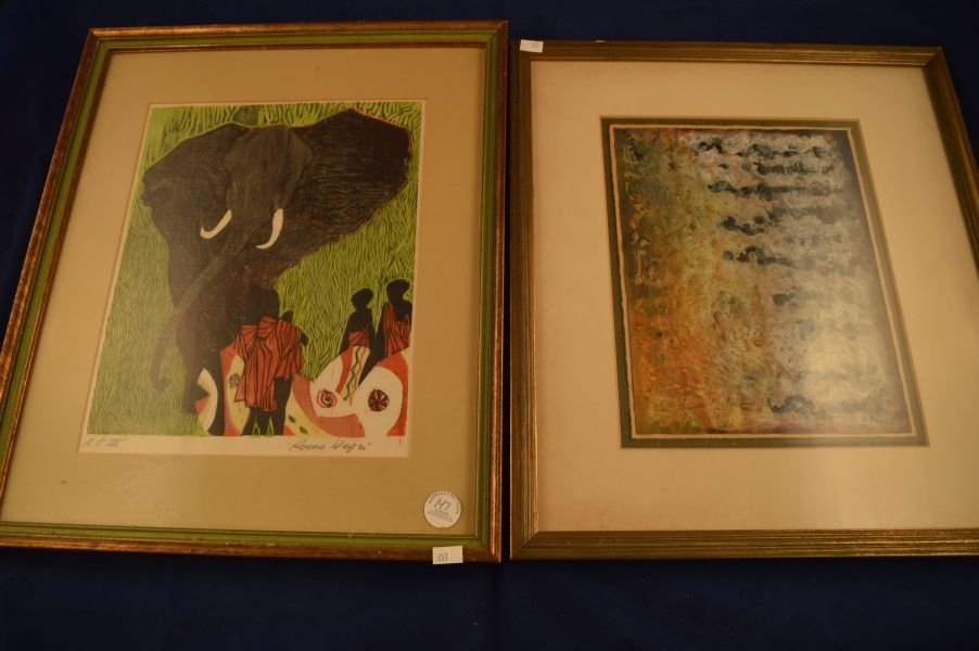 2 Lithographs/Prints; 1) Signed Rocco Negri, 2) Signed