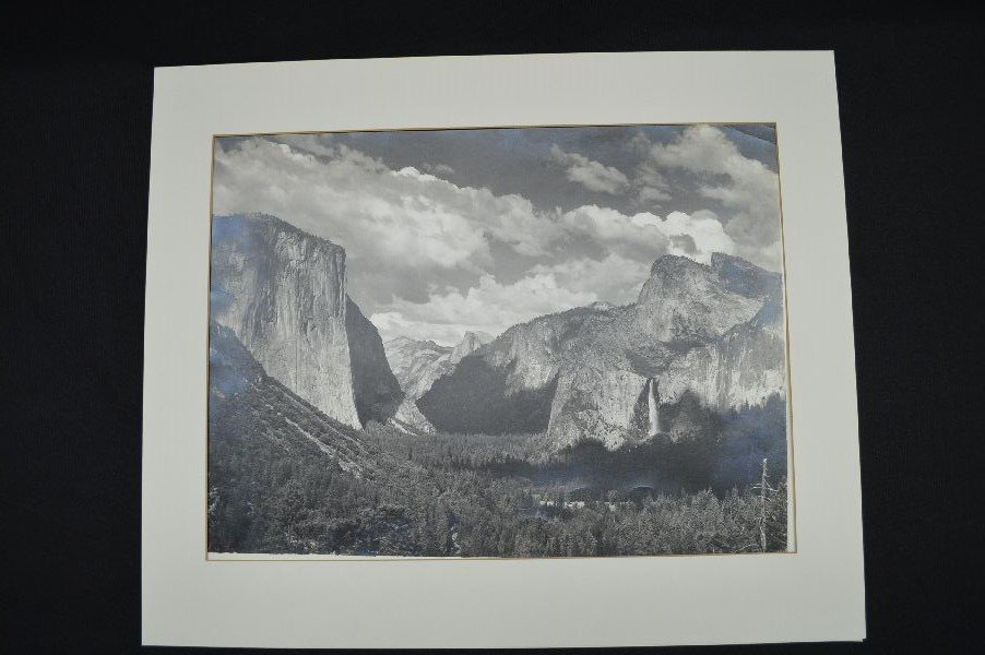 PAIR OF ANSEL ADAMS PHOTOGRAPHS. ESTATE STAMPED . WITH