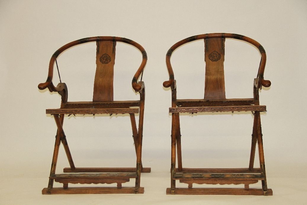 Pair Huanghuali Flooding Chairs