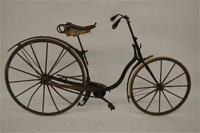 """ANTIQUE OLD HICKORY BICYCLE . ALL ORIGINAL. 39""""x73""""x27"""""""