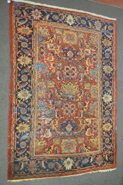 "LARGE PERSIAN AREA RUG 123"" x 83"""