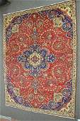 "LARGE PERSIAN AREA RUG 95 ""x 146"""